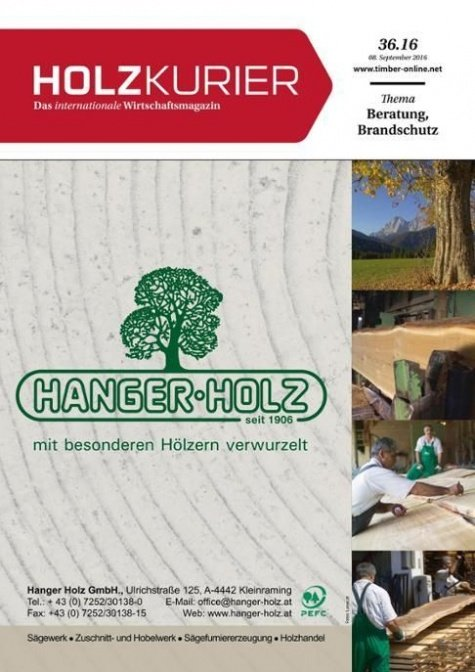 Holzkurier Digital Nr. 36.2016